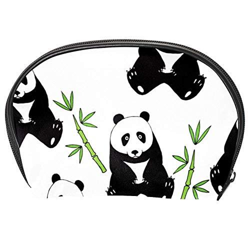 TIZORAX Sac à cosmétiques en bambou et panda