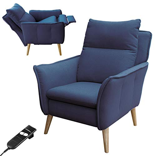 place to be. Motorised Recliner Chair with Reclining Function Fully Adjustable Solid Oak Blue