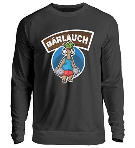 Generisch Bärlauch Lauch - Sudadera unisex para entrenamiento muscular, diseño de discoteca Negro XXXL