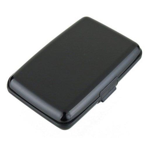 Preisvergleich Produktbild Aluma Kreditkarten-Etui,  aus Aluminium mit RFID-Blocker,  Schwarz