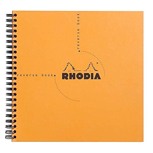 Rhodia Reverse Standard Notebook - Graph, Orange