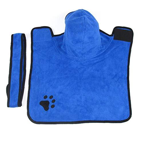 Toalla De Baño Para Mascotas Perro Perro De La Toalla De Secado De La Capa Absorbente Albornoz Suministros Para Mascotas En Perrito Del Gato De Secado S Azul Ropa Para Perros