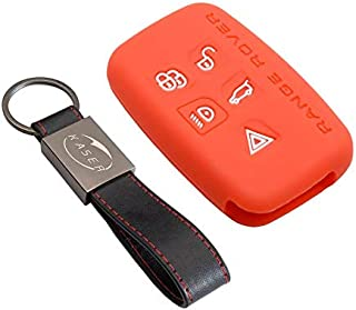 kaakaeu Funda para Llave de Coche con 3 Botones y Mando a Distancia Plegable con Hoja sin Cortar para Land Rover Range Rover Sport LR3 Discovery 3