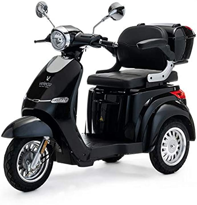 Scooter elettrico a 3 ruote per la mobilità 1000w cristal 3 colori (nero) veleco cristal B082Q1STDG
