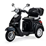 VELECO 3 Räder Elektroscooter 1000W Seniorenmobil E-Fahrzeug 3 Farben (Schwarz)