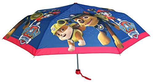 Chanos Chanos Paw Patrol 50 cm. Manual Polyester Taslon W/Display Folding Umbrella, cm, Blue Regenschirm, Blau (Blue)