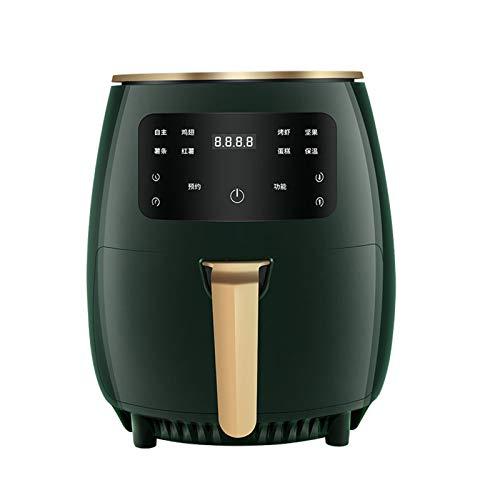 Eortzzpc Freidora Sin Aceite, 4.5l Freidora De Aire Caliente con 8 Programas, Air Fryer con Temperatura Y Temporizador Ajustable, Cesta Antiadherente, Libre De Bpa (Color : Green)