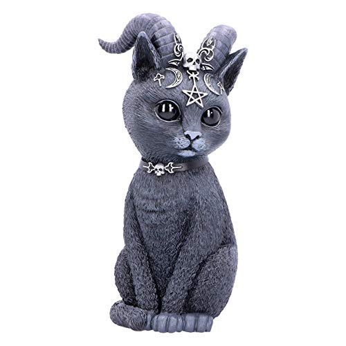 Nemesis Now Large Occult Cat Figurine, Black, 26.5cm Große Pawzuph Horned Okkulte Katze, schwarz, 26,5 cm