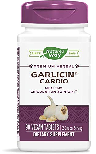 Nature's Way Garlicin Cardio SmartRelease Garlic with MAX Allicin Potential Odor Free, 90 Count, Pack of 2