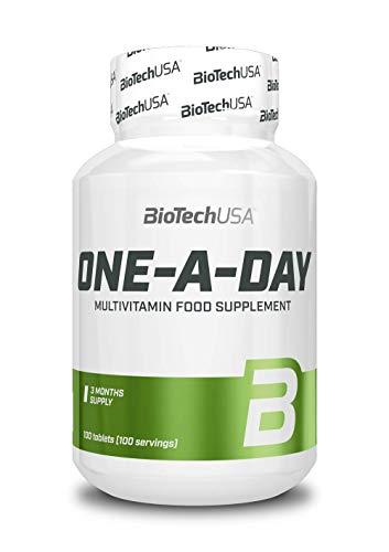 BioTech USA, 100 compresse di integratori alimentari One a Day, 1 confezione (1x 170g) (etichetta in lingua italiana non garantita)