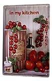 LEotiE SINCE 2004 Blechschild Essen Restaurant Deko Tomaten