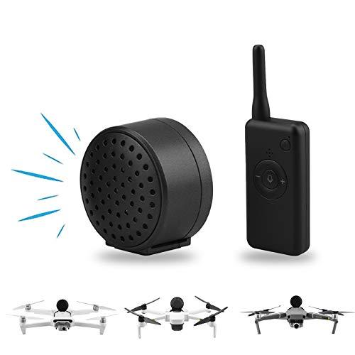 O'woda Drone Altoparlante,UAV Megaphone Leggero con Distanza di Controllo di 2 km Senza interferenze Universal Real Time Air Broadcast per Mavic Air 2S/Mavic 2/Air 2/PRO/Mini/Spark/FIMII X8SE/Mini SE