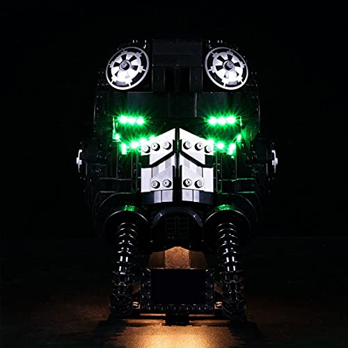 Myste 75274 - Juego de iluminación LED para casco Lego Tie Fighter Pilot, compatible con Lego 75274 (solo incluye LED, no modelo Lego)