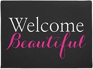 Ailovyo Welcome Beautiful Beauty Salon Rubber Non-Slip Entry Way Outdoor Indoor Decor Rug Doormats, 23.6-Inch x 15.7-Inch