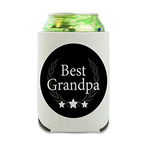 Best Grandpa Award Can Cooler - Drink Sleeve Hugger Collapsible Insulator - Beverage Insulated Holder