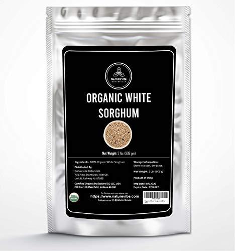 Naturevibe Botanicals Organic White Sorghum Grain, 2lbs | Non-Gmo, Gluten Free and Keto Friendly (32 ounces)