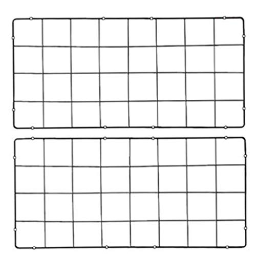 ZLP Wandgemonteerde Grid Iron Multifunctionele Zwevende Wandplank, Zwevende Wandplank, 76X36Cm, Zwart Zwart+76x36cm