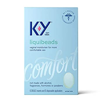 Personal Lubricant K-Y Liquibeads Vaginal Moisturizer 6 Bead Inserts and 6 Applicators to Supplement a Woman s Natural Moisture for Comfort and Sex  Packaging May Vary