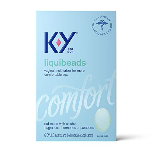 Personal Lubricant, K-Y Liquibeads Vaginal Moisturizer, 6 Bead Inserts and 6 Applicators to Supplement a Woman
