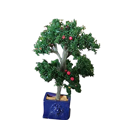 Sonoaud Simulación de plantas en maceta accesorios vivos de color vivo mini maceta suministros para paisaje, decoración de muebles de pretender, regalo para niños mayores de 3 años de color azul