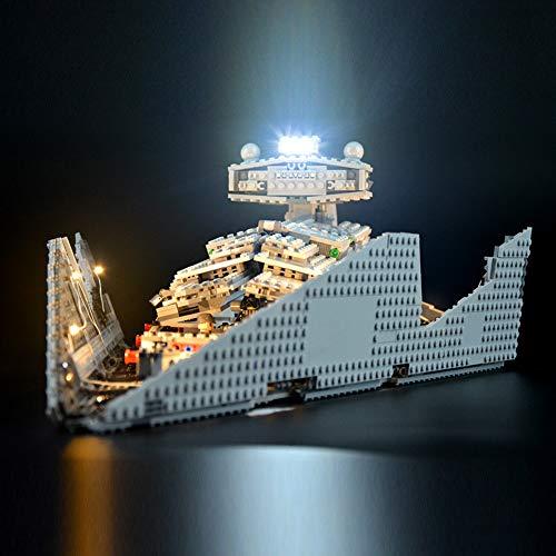 Nlne Conjunto De Luces para (Star Wars Imperial Star Destroyer) Modelo De Construcción De Bloques - Kit De Luz LED Compatible con Lego 75055 - NO Incluido En El Modelo