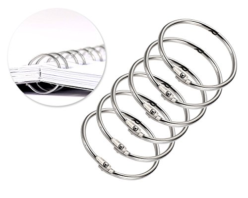 DS. DISTINCTIVE STYLE 20 Pcs Metal Binder Rings 2 Inch Round Binding Rings Book Loose Leaf Rings Keychain Rings - 50mm