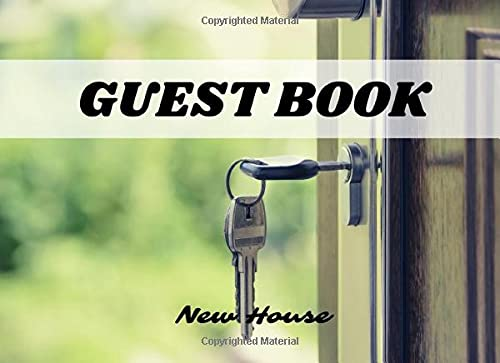 Guest Book For New House Party: Interior Pages Specially Designed For Housewarming Party Also Perfect For Gifts