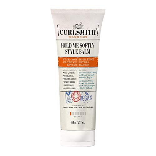 Curlsmith - Hold Me Softly Style Balm - Vegan Soft Hold Styling Cream for Wavy and Curly Hair, Natural Look (2oz)