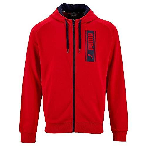 Puma DKT M Hood Jackt CP - Sudadera para hombre, color rojo rojo L