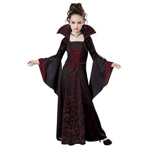 MFFACAI Disfraz de Bruja para Niños, Disfraz de Bruja de Halloween Disfraz de Damas Brujas de Halloween Disfraz de Disfraces de Niñas para Niños Niños Pequeños Niños Niñas,Púrpura,110