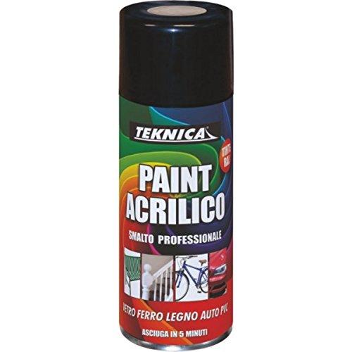 Vernice Smalto Spray Acrilico Universale Teknica Pittura Bomboletta Multicolore Trasparente Lucido