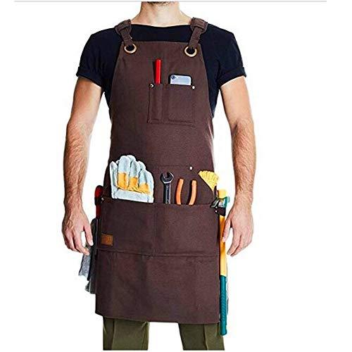 Werkzeugschürze,Work Apron,Wasserdicht Waxed Canvas Werkzeug Schürze Top-Qualität Mode Heavy Duty Arbeit Schürze Catering Maler Gärtner Barber Wear Uniform