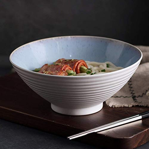 Eating Bowl, Japanese Style Cerami Ceramic Bowl Soup Plate Cake Snack Dessert Tray Oven Tableware Bamboo Hat Stripe Shape 20.5x8.4cm Bowl Ramen Salad Soup Fruit Bowl
