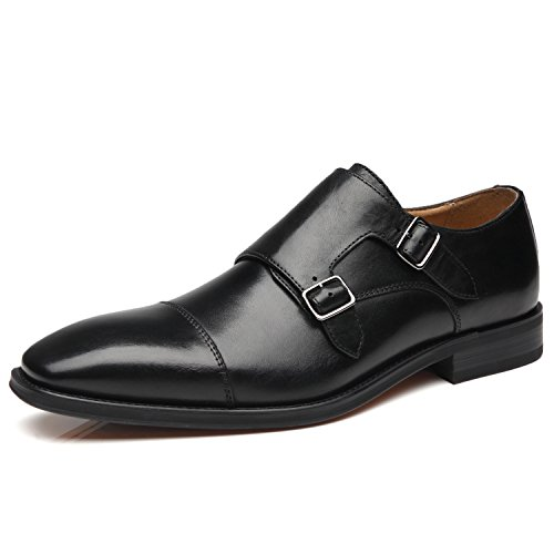 La Milano Mens Double Monk Strap Slip on Loafer Cap Toe...