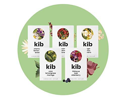 Kib Multipack Flavoured Herbal Tea (Pack of 5, Total 75 Tea Bags)