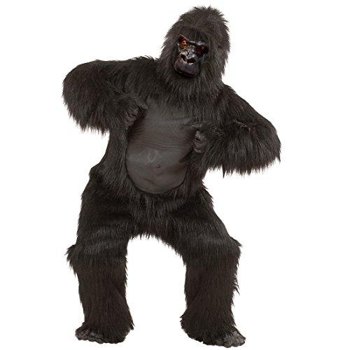 Amakando Déguisement intégral Gorille Costume Complet en Velours Zoo en péluche Singe Barboteuse planète des singes Habit d'animal Carnaval