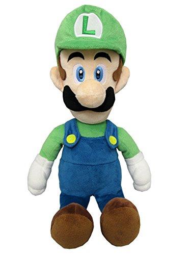 Super Mario ALLSTAR COLLECTION 18 Stofftier Kuscheltier Plüsch Figur Plüschtier: Luigi 37 cm (M)