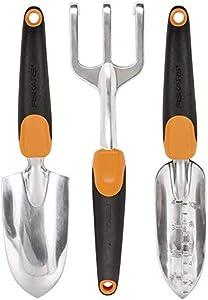 Fiskars 384490-1001 Ergo Garden Tool Set, 3 Piece, Black/Orange 5-Pack