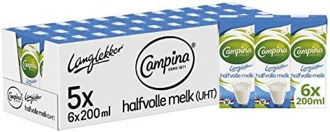Campina Langlekker Halfvolle Melk Mini 5 x 6 x 200 ML