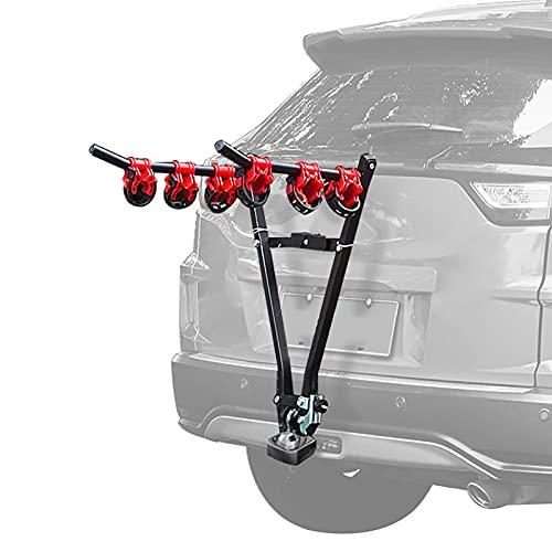 Soporte Bici Universal, Portabicicletas Trasero, Porta bicicleta para coche, Cinchas para portabicicletas, Portabicicletas básico y de fácil manejo (para 3 bicicletas).