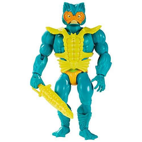 Masters of the Universe GRX01 - Origins Mer-Man Actionfigur, ca. 14cm große Actionfigur, Figuren zum Spielen und Sammeln, Geschenk für 6- bis 10-Jährige und erwachsene Sammler