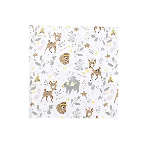 TupTam Funda para Cojin con Diseño Decorativo para Niños, Los Animales Salvajes, 40 x 40 cm