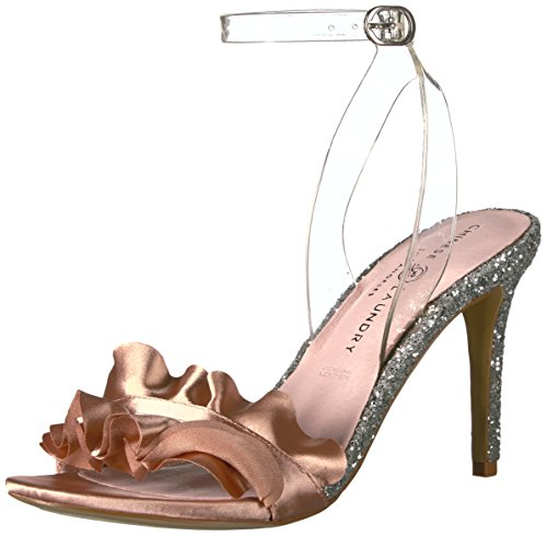 Chinese Laundry Women's Jainey Dress Sandal, Nude/Clear Satin, 6.5 M US