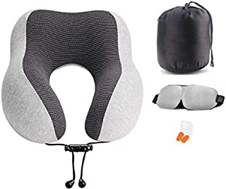 Al-Felice Almohada cervical de espuma viscoelástica, almohada de viaje, almohada cervical de espuma viscoelástica para avión, coche, casa y oficina