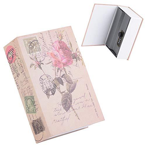 Buchtresor mit Kombinationsschloss, Mini Buchsafe Geldkassette Versteck für Wertsachen im Buchregal, Tragbare Security Safe Box für Bargeld, Schmuck, Kreditkarten, 18 x 11,8 x 5,5cm