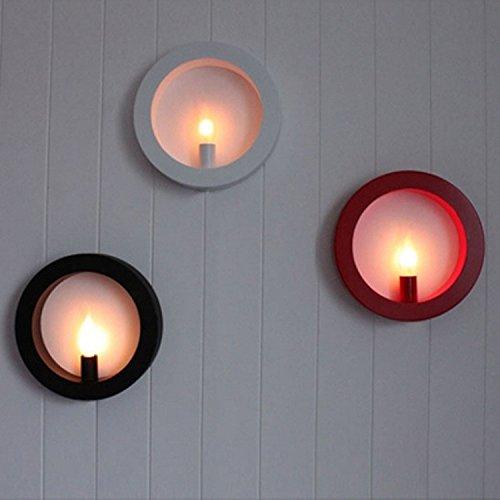 JJZHG Wandlamp, waterdicht, wandverlichting, led-wandlamp, creatief voor de woonkamer, achtergrond, gang, nachtkastje, vierkant, fotolijst, decoratie, 26 x 26 cm, zwarte wandlamp