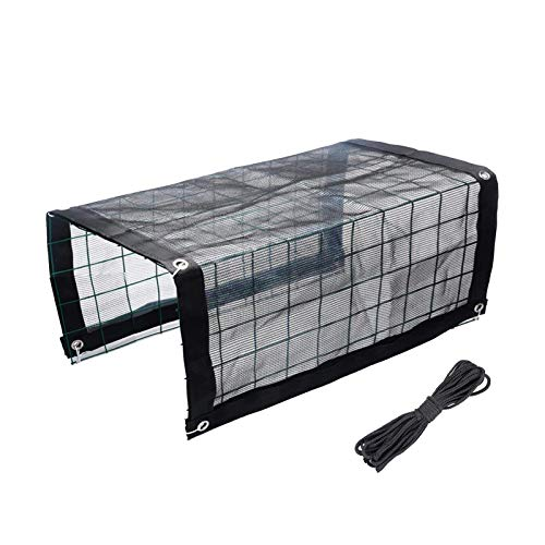 Plant Greenhouse, Durable Rainproof Antifreeze Cover Insulation Greenhouse - Transparent PVC Greenhouse - Mini Greenhouse With Frame - With Shading Net,Grid Frame And Roll Of Cotton Thread S/M/L