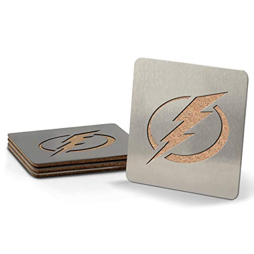 NHL Tampa Bay Lightning Boaster Stainless Steel Coaster Set of 4