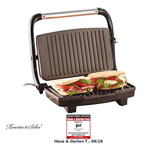 Rosenstein & Söhne Sandwichmaker: Panini-, Sandwich- & Kontaktgrill CG-2510, 1.000 W (Panini Grill)