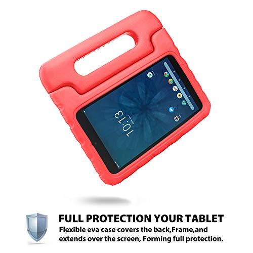 Bolete Onn 8 Zoll Tablet-Hülle, leicht, stoßfest, Schutzgriff, Ständer, Kinderhülle für Walmart Onn 8 Zoll Android Tablet Modell ONA19TB002 (2019 Release) – Rot